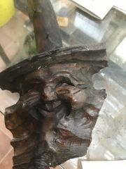 Kopf Holzschnitzerei