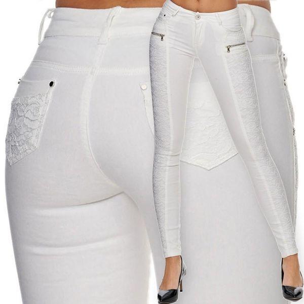 Damen Jeans Skinny Hüftjeans mit