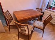 alter Tisch ausziehbar mit 4