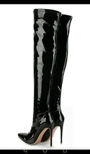 sexy high heel overknee stiefel