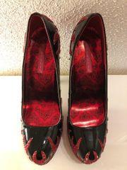 Heels schwarz rot