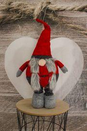 Weihnachtsdeko Wichtel Frau ausziehbar 45-95cm