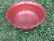 Waschschüssel Emaille-Schüssel rund Pflanz-Schale für