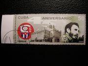 Briefmarke mit Fidel Castro Motiv