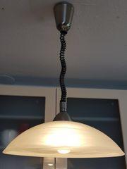 Esszimmer-Küchen-Hängelampe Milchglas Höhenverstellbar E27