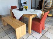 Esszimmer Tisch Stühle und Bank