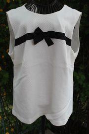 neuwertige cremefarbene-schwarze Bluse von Arefava