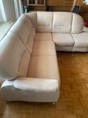 Sofa Couch Wohnlandschaft mit Schlaffunktion