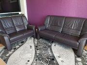 Hochwertige Echtledercouch 3-Sitzer 2-Sitzer-Set von