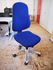 Bürodrehstuhl blau Bürostuhl Drehstuhl Arbeitsstuhl