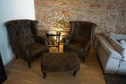 Sessel Ohrensessel Chesterfield Couch Sessel