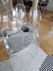 Stühle 4 Stück transparent