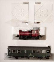 Modelleisenbahn Roco Bauzug mit Lok