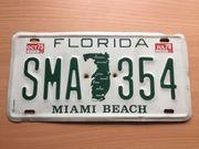 US amerikanisches Kennzeichen licence plate -