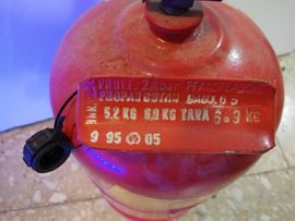 Campingartikel - leere 5 kg Propangasflasche