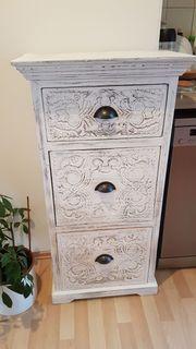 Schuhkippschränke weiß floral