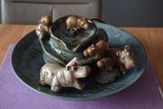 Zierbrunnen mit Nilpferden
