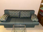 Schlafsofa grün ausklappbar mit Bettkasten