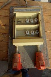 Baustromverteiler gebraucht 63A-32A-16A-3x220V Schukosteckdosen Fi-Schalter