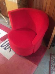 Neuer Sessel rot