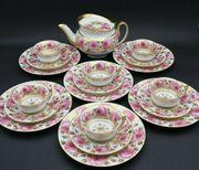 Nymphenburg Jugendstil Teeservice Rosenmuster mit