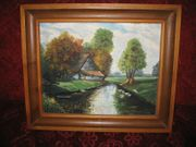Landschaftsbild Ölgemälde v G Dürr