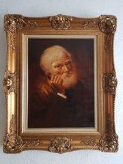 Goßes Ölgemälde sehr ausdrucksstarkes Porträt