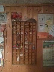 Klassiker für Sammler Antiker Setzkasten