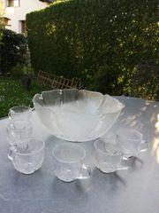 BOWLE Set Schüssel Tassen