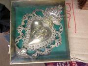 Original antike Votivgabe Silberblech flammendes