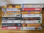 16 VHS-Kassetten Spielfilme Reisen Modellbahn