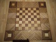 Schachbrett mit Intarsien Umrandung