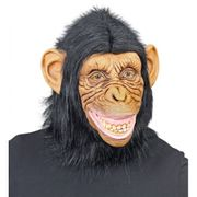 Affenkopfmaske Schimpansenmaske Karneval Verkleidung