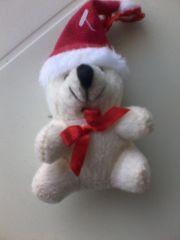 Stofftier - Plüschtier - Weihnachten - Bär - creme beige