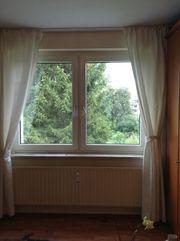 Gardinenvorhang cremeweiss mit Strukturmuster blickdicht