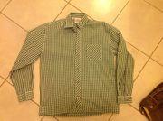 Trachtenhemd Gr 164 grün karriert