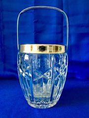 Eiswürfelbehälter Bleikristall echtes Silber