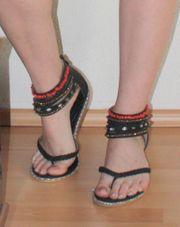 Flache Sandalen Sandaletten Flip Flops