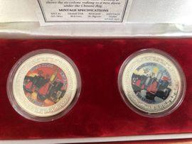 Hong Kong Returns to China Münze, Medaille 1997 Trade Dollar