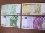 alte EUR Scheine orig