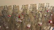 1 - ltr - Glasflasche mit Bügelverschluss