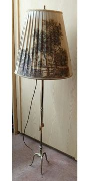 Antike Stehlampe Lampe Messing ca