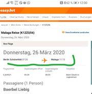 Flugticket von Berlin nach Malaga
