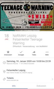 Normahl Teenage Warning Leipzig 18