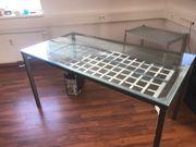 Esstisch oder Schreibtisch aus Glas