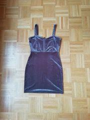 Lila Samtkleid Bodycon Kleid Sommerkleid