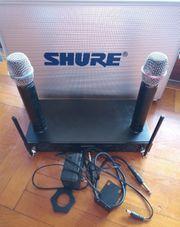 Shure Beta-87 Funkmikrofone Anlage