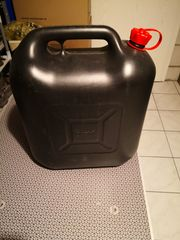 Benzinkanister 20 Liter Schwarz Kunsttoff