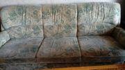 Sitzgarnitur - Schlafcouch Sessel Tisch