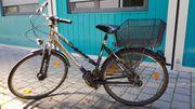 Alu Trekking-Rad silber dunkelblau metallic